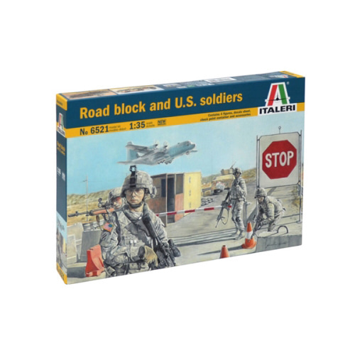 BI6521 1/35 Road Block and U.S. Soldiers(마스터 박스 인형 포함) (New Tool- 2014)